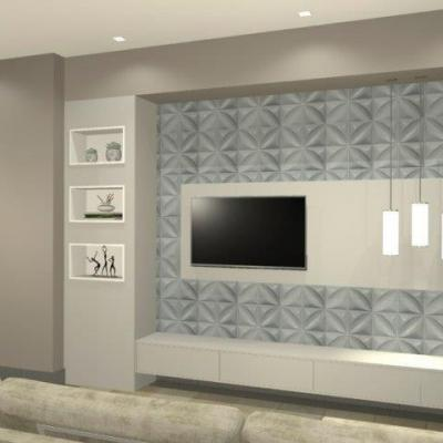 Painel home theater planejado